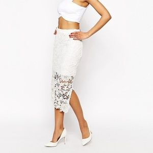 """ASOS by Wyldr """"Deal Breaker"""" Pencil Lace Skirt"""